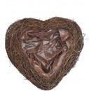 Heart Salim open, dimensions 40x42cm, nature